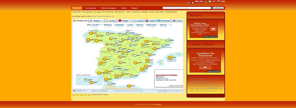 Carte Meteo Barcelone.Actiaweb Site Web Et Creation Carte Meteo